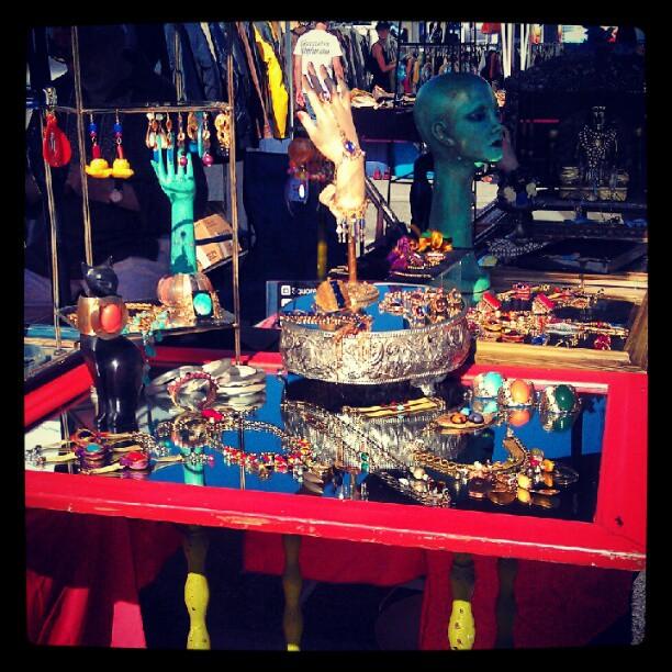 @MelroseTrdgPost vendor Saundra in B39 always has a whimsical set up!