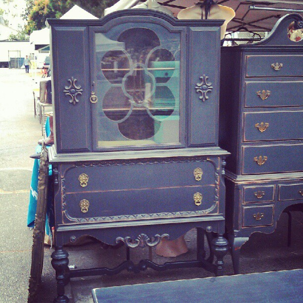 What a lovely black armoire! #fleamarketfind #melrosetradingpost