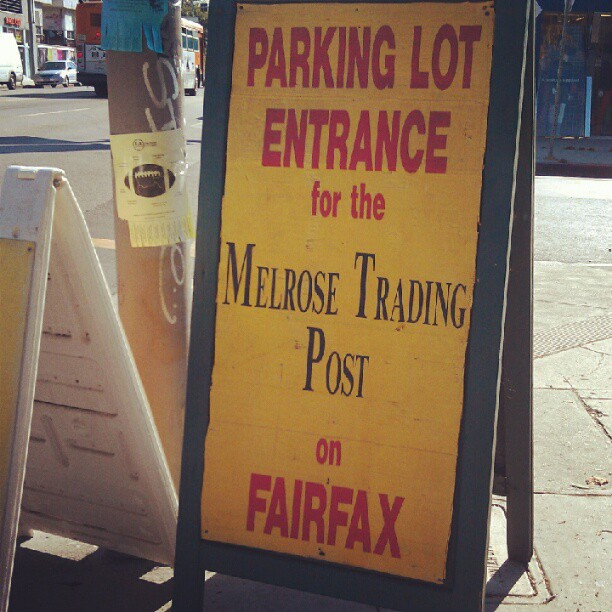 FYI People: Parking entrance has been moved to Fairfax and Clinton. #MelroseTradingPost
