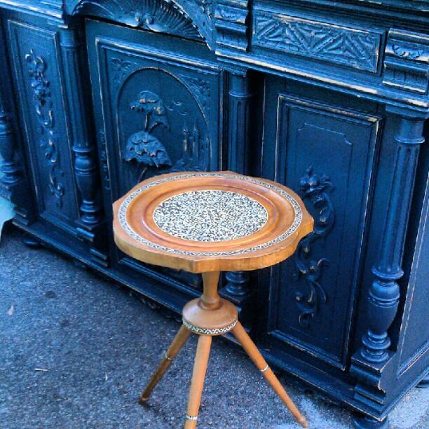 Small 40 year old Turkish handmade table. In Y39 #melrosetradingpost #fleamarketfind
