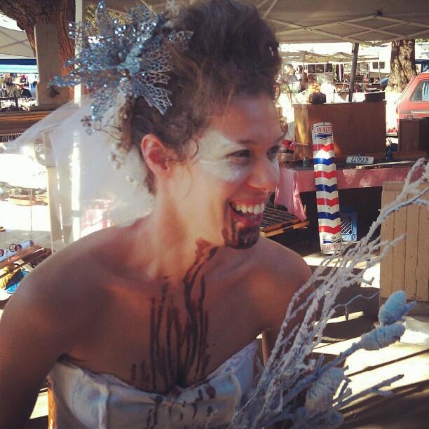 Congrats to the winner of our vendor costume contest... @bowjie !!!! #MelroseTradingPost #Halloween #costume #fleamarketswag #zombie #bride