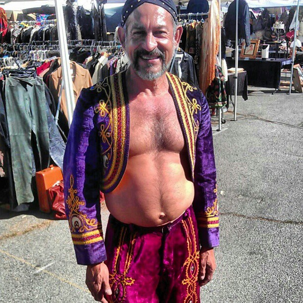 @ciscogeorge makes a hot Genie!!! #Halloween #costume #MelroseTradingPost #fleamarket #LA