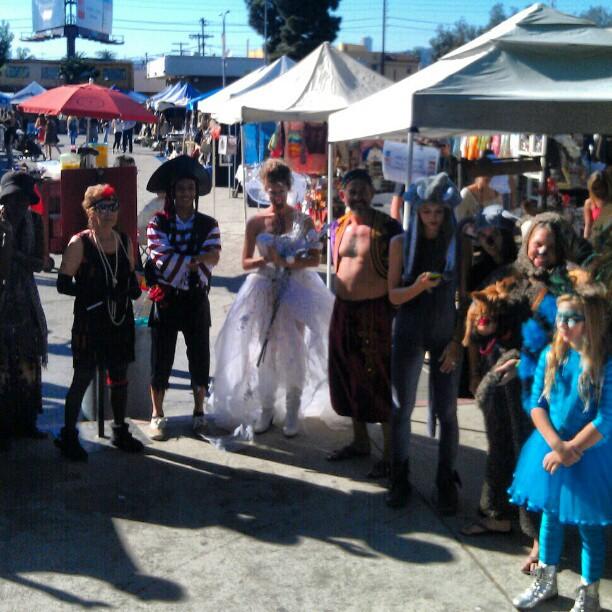The fantastic Vendor Costume Contest contestants!!! #MelroseTradingPost #Halloween #costume #fleamarket #LA