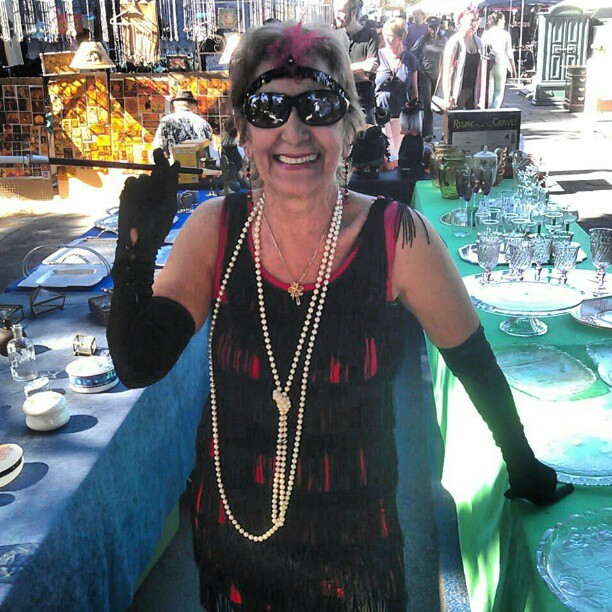 Rae is the cutest flapper in #LA!! #melrosetradingpost #fleamarket #Halloween #costume