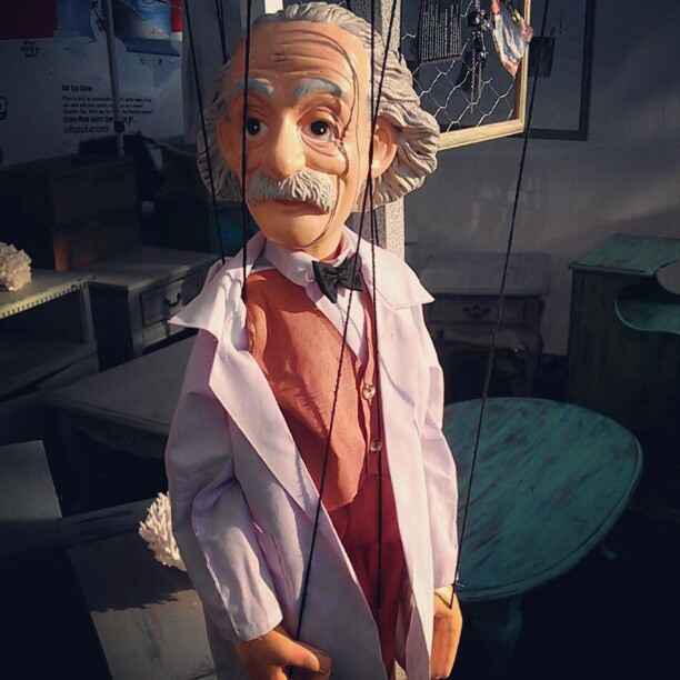 This may be the best puppet ever made. #Einstein #marionette #fleamarket #MelroseTradingPost #awesome