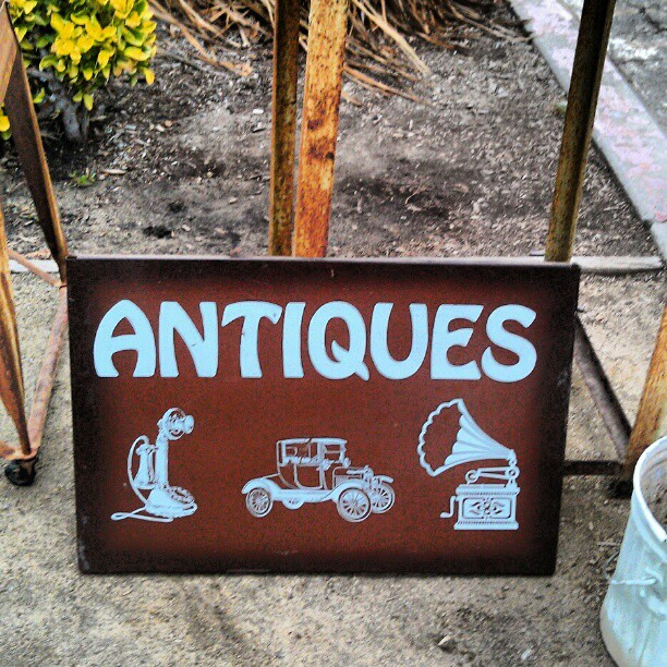 We love antiques!! #MelroseTradingPost #vintage #antique #sign #fleamarket