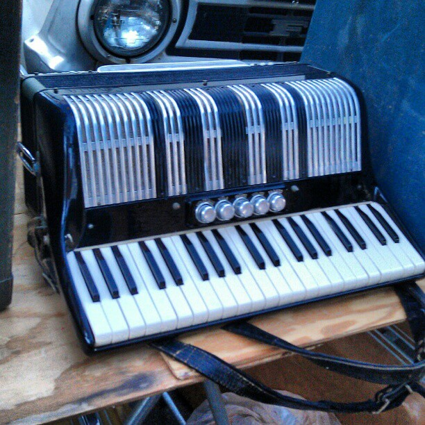 Does anyone need a vintage accordion? #music #instrument #accordion #MelroseTradingPost #fleamarket