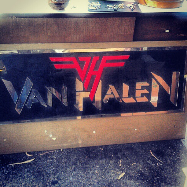 A dreamy Van Halen mirror in booth Y14 by the Fairfax entrance! #MelroseTradingPost #fleamarket #vanhalen #rock #music