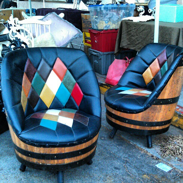 Love these chairs in B71!! #MelroseTradingPost #fleamarket #leather #furniture