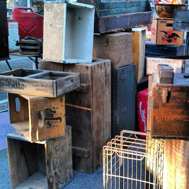 Flea market finds. Thanks for a great day!! #MelroseTradingPost #fleamarket #wood #box #la #design