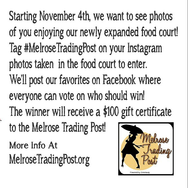 Instagram Contest Details!!!#MelroseTradingPost #SundayFunday
