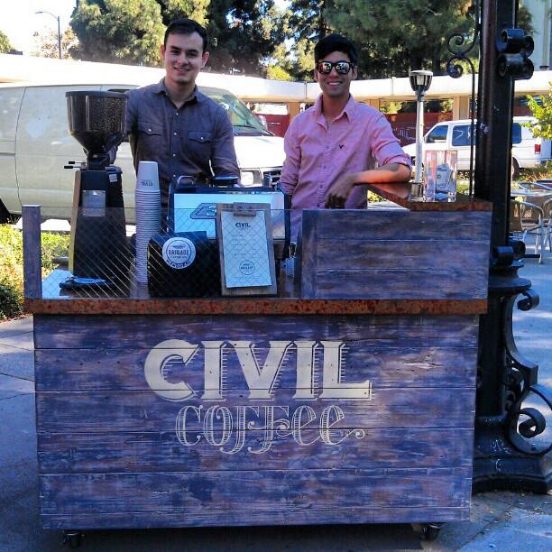 The @Civilcoffee guys are ready to make you coffee!! #MelroseTradingPost #coffee #SundayFunday #LA