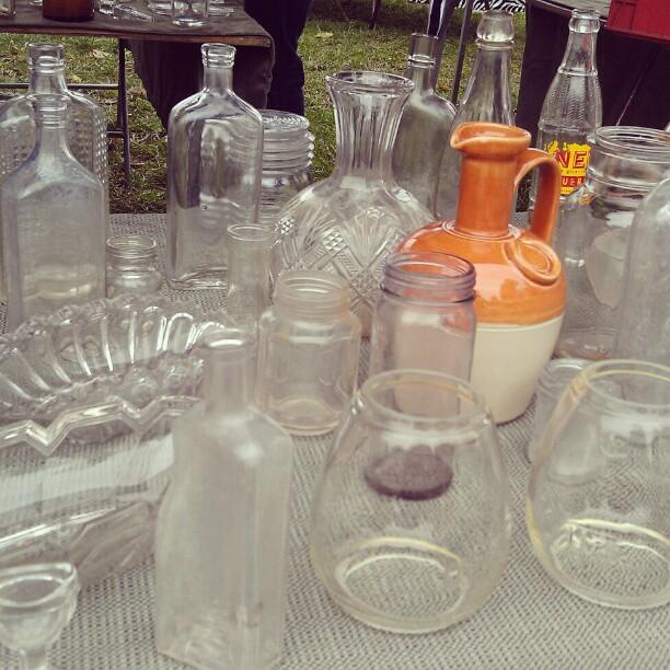 Glass on glass on glass.  #Melrosetradingpost #fleamarket #decor #glass