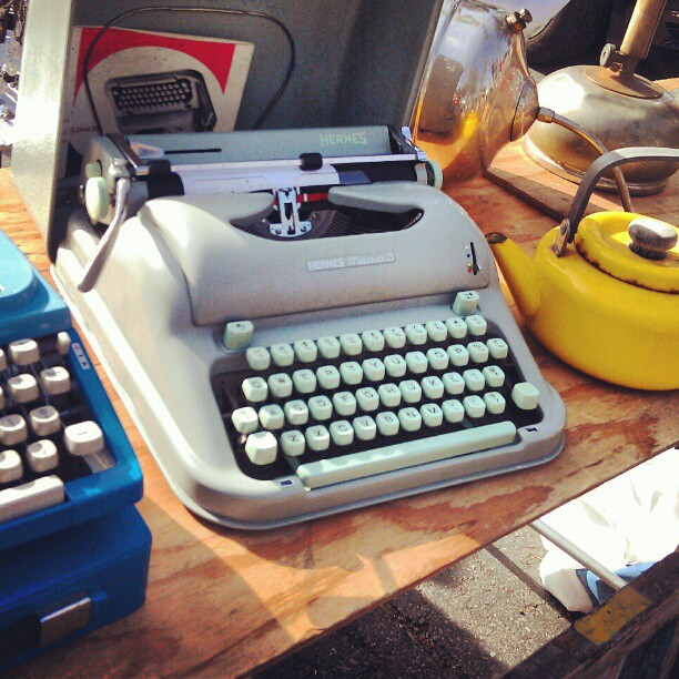 Who wouldn't want a beautiful typewriter for the holidays? #Melrosetradingpost #fleamarket #writer #gift #typewriter #vintage