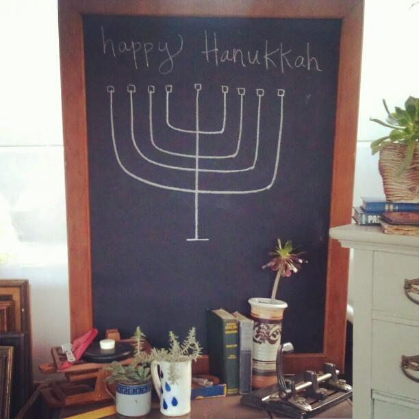 Happy Hanukkah from #DisregardenFlea!  @jessicanicole #Melrosetradingpost #fleamarket #chalk #Hanukkah