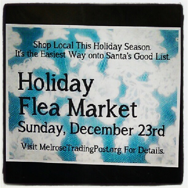 Next Sunday is our Holiday Market. See you then! #shoplocal#Melrosetradingpost #fleamarket #holiday #local