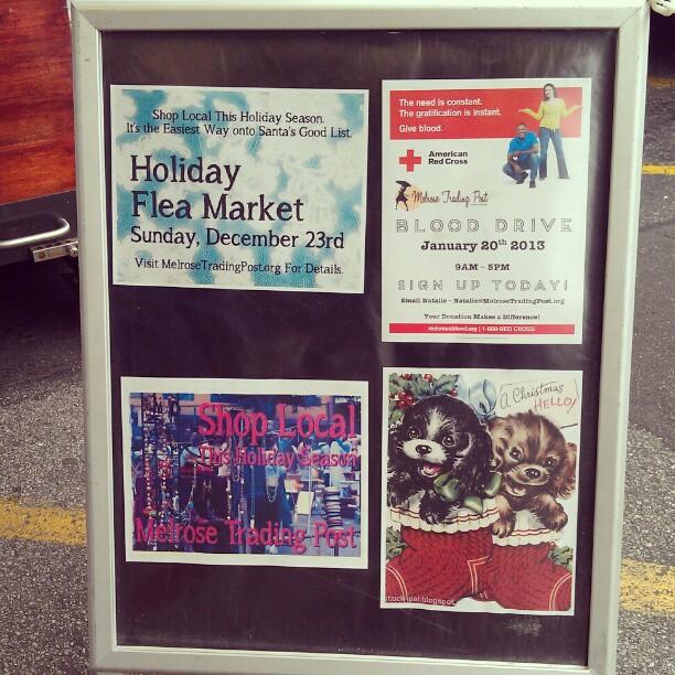 Holler for our info boards! #Melrosetradingpost #fleamarket