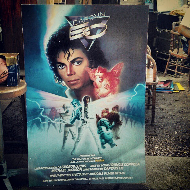 There isn't a better holiday present that this! #Melrosetradingpost #captaineo #MichaelJackson #poster #amazing #gift #fleamarket