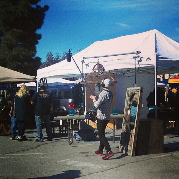 Flea Market Flip is filming in the market today! #fleamarket #Melrosetradingpost #LA #tv