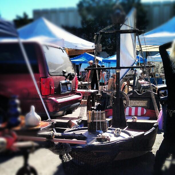 Does anyone need a pirate ship? It's in B111. #fleamarket #pirate #LA  #Melrosetradingpost