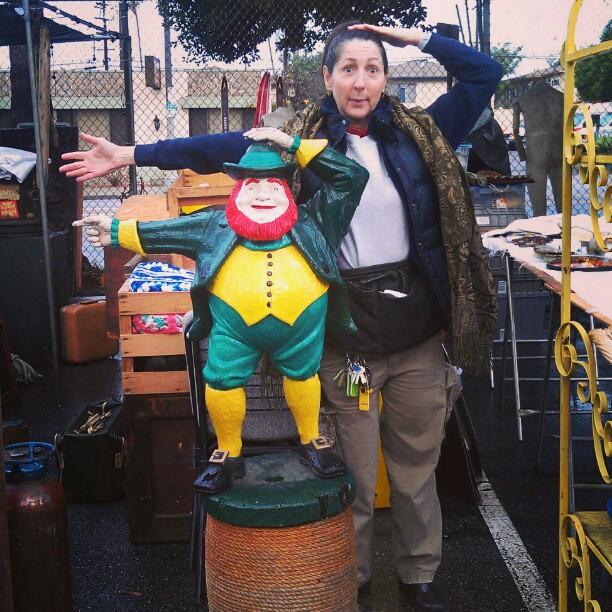 Good Morning LA! The #Melrosetradingpost is preparing for your arrival! #leprechaun #fleamarket #LA