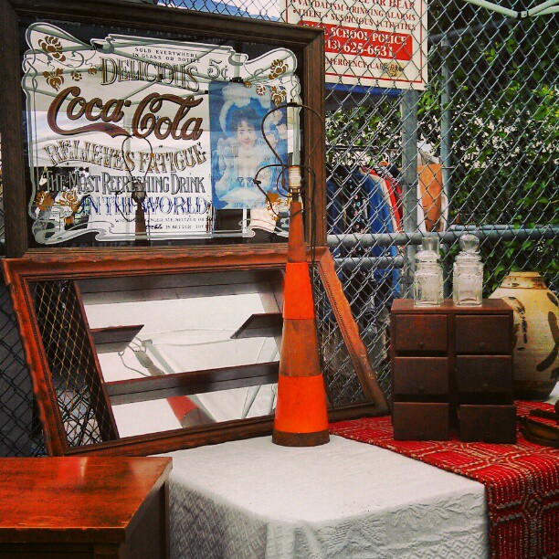 The vendors in G6 have so many goodies!!! #Melrosetradingpost #fleamarket #cocacola #vintage #antique #lamp #midcentury