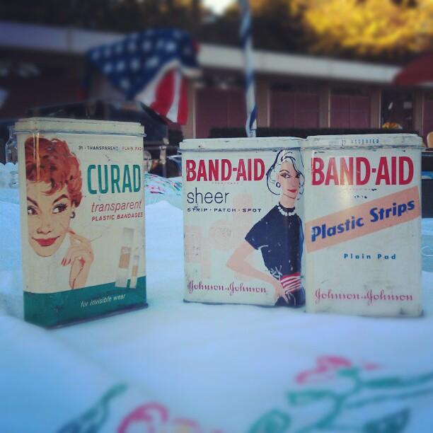 Vintage Band Aid Tins! #Melrosetradingpost #fleamarket #Americana #bandaid #vintage