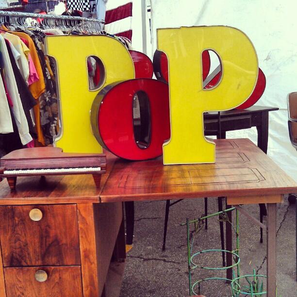 POP! In Sarah's booth Y25! #Melrosetradingpost #fleamarket #vintage #la #lastyle