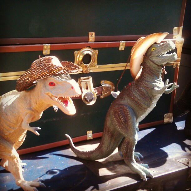 It's a dinosaur cowboy party in Y4! #Melrosetradingpost #SundayFunday #la #fleamarket #dinosaur #weird