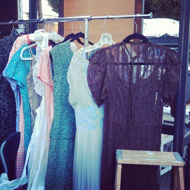 Vintage dressies!!! #Melrosetradingpost #fashion #fleamarket #LA #vintage