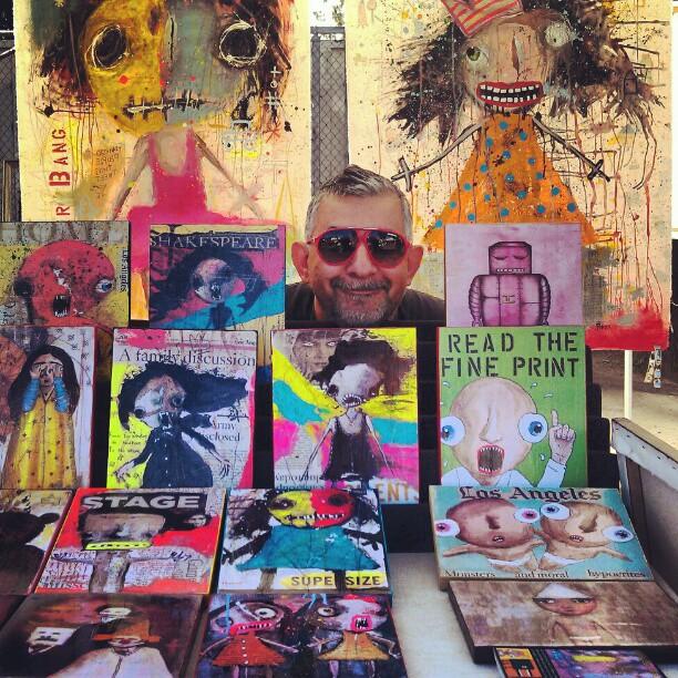 Can you find Reza? B62 #artist #reza #Melrosetradingpost #fleamarket #LA #local #art
