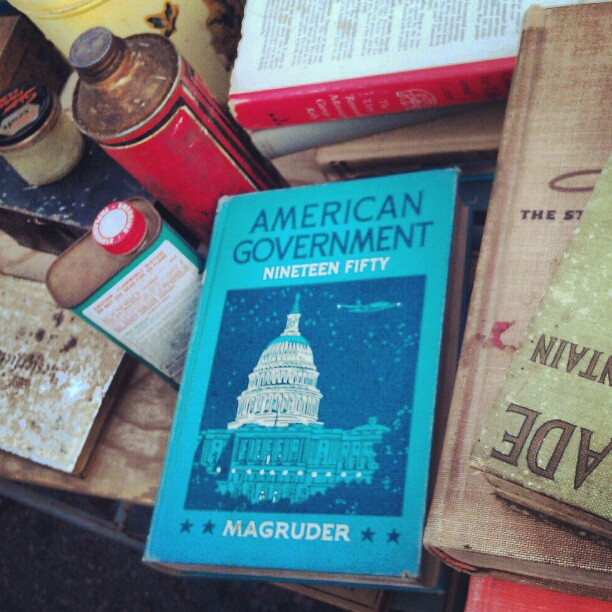Learn something about America at the #Melrosetradingpost. #amuricuh #USA #history #vintage #fleamarket #book #government #1950