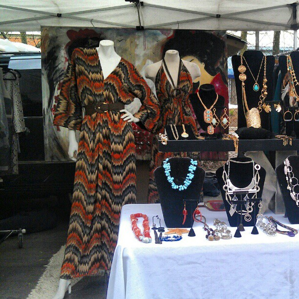 Local fashion designers in the house!! #concepcion #fashion #la #lastyle #designer #melrosetradingpost #fleamarket