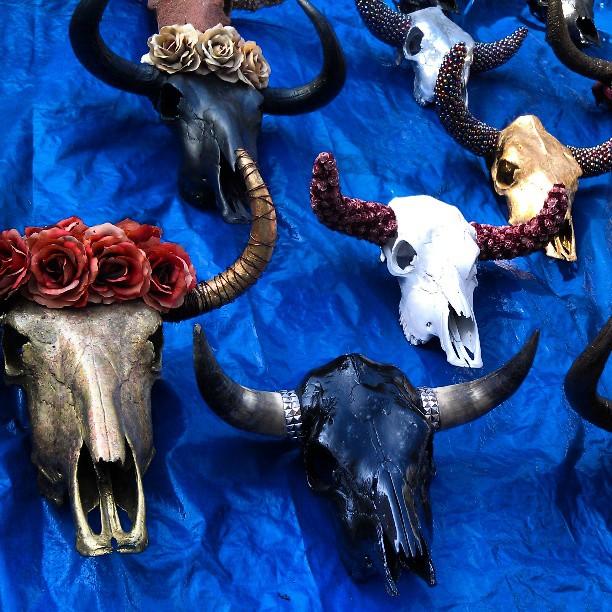 These embellished skulls are AMAZING in G33!!! #Melrosetradingpost #fleamarket #home #decor #skull #pretty