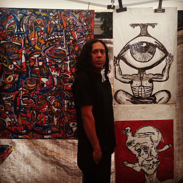 Artist Jose Zuno always makes B95 look good! #local #artist #Melrosetradingpost #fleamarket #art