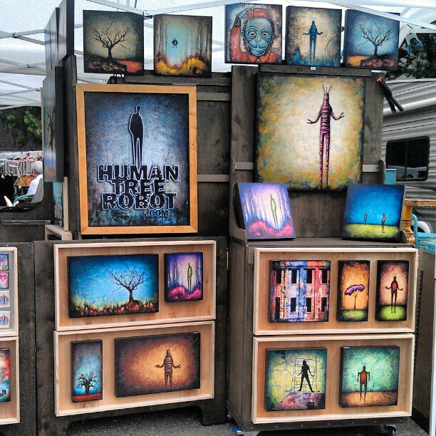 Thank you LA for another glorious Sunday!! Hopefully you were able to get all of the goodies like Human Tree Robot artwork by Mark Brunner!! #Melrosetradingpost #humantreerobot #art #la #local #artist #fleamarket #onlyinla
