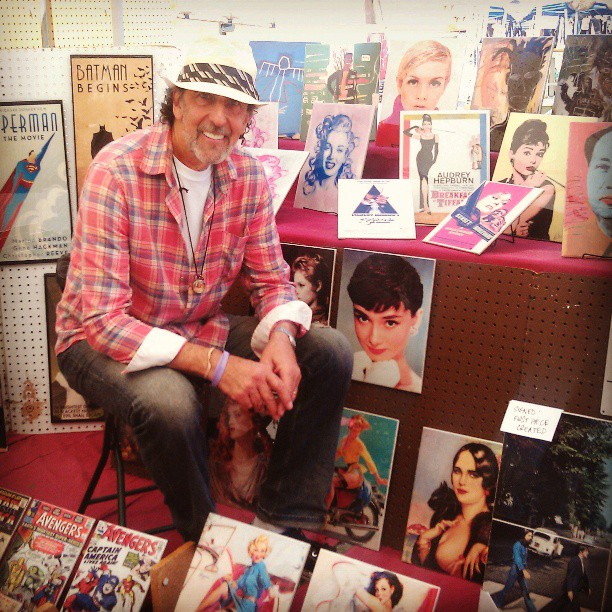 An Englishman in LA has his artwork up for you to look at slooooowly! #SlowArtDay #MelroseTradingPost #fleamarket #local #art #artist #Fairfax #Melrose @slowartdayofficial