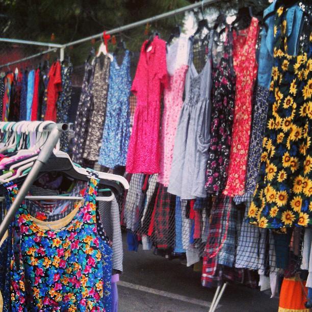 Dresses and Jumpers Galore!! #Melrosetradingpost #fleamarket #fashion #coachella #coachillin #la #lastyle #festival #vintage #90s