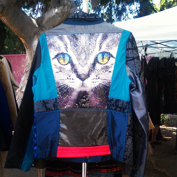 Cat Jacket! In R13 in the food court.#Melrosetradingpost #fleamarket #cat #fashion #jacket #Fairfax #Melrose #la #vintage