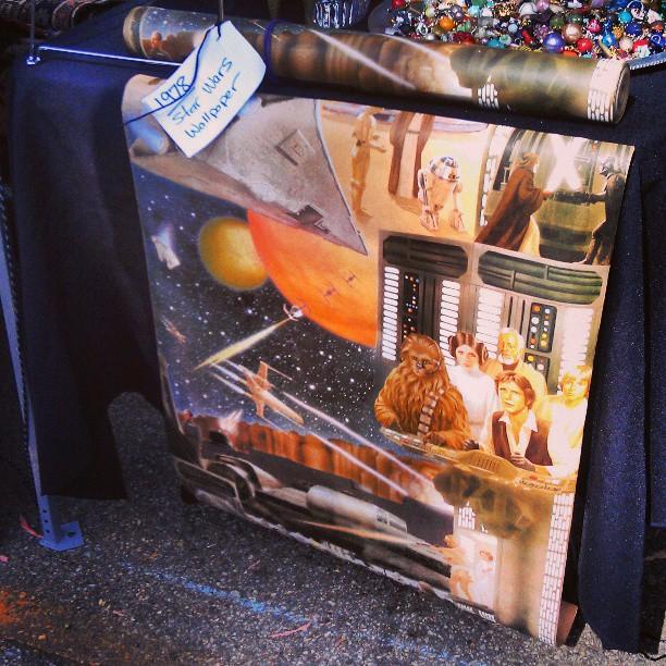 Candy In Y36 Has This Amazing Star Wars Wallpaper Melrosetradingpost Starwars Fleamarket La Melrose Trading Post