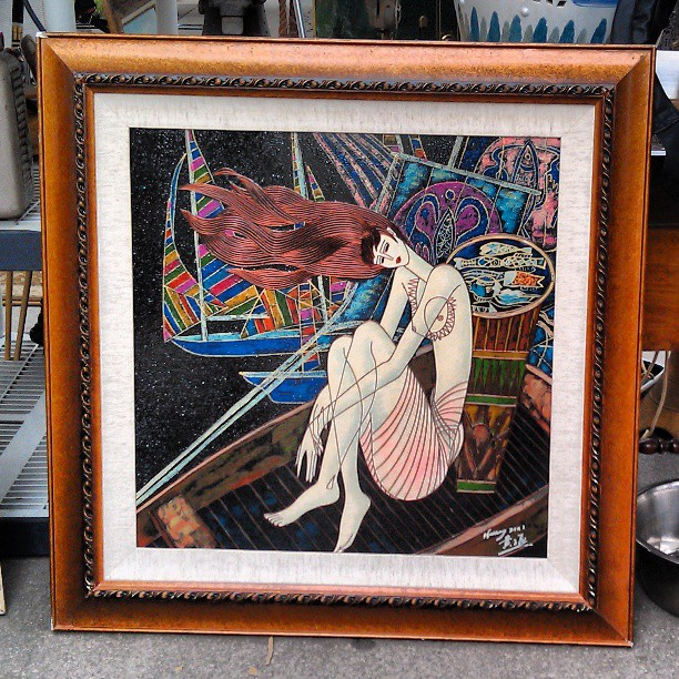 This painting in R16 was too gorgeous... We had to post it!  #Melrosetradingpost #fleamarket #fleamarketswag #la #art #painting  #Fairfax #Melrose