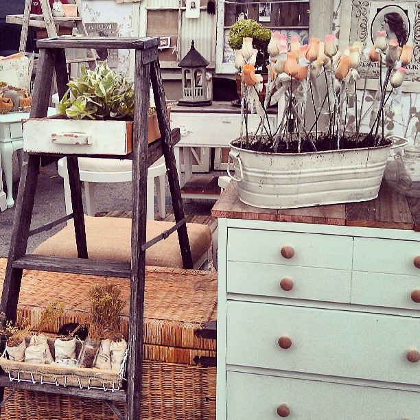 The lovely gentlemen of Antigua in B113 have such a gorgeous shabby chic inspired booth!!