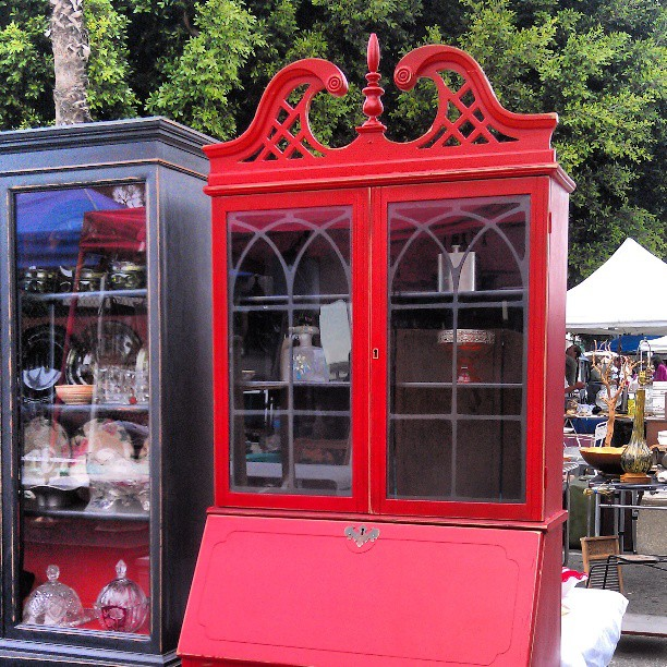 This red armoire is outta control!!! #Melrosetradingpost #fleamarket #furniture