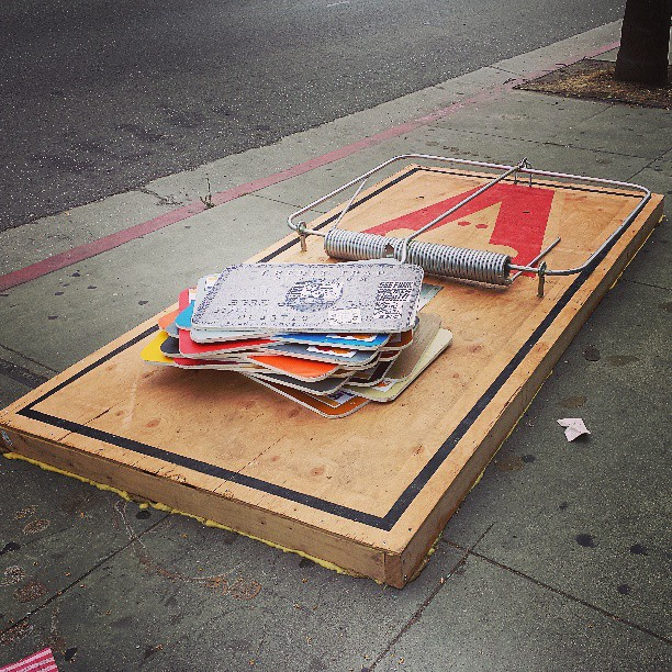 Melrose Avenue art installation for your eyes!