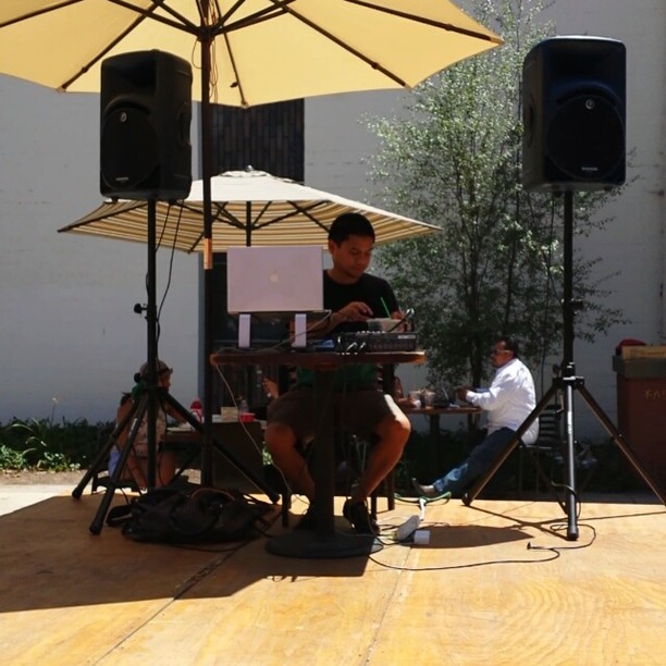 DJ Rani D is jamming on the food court stage!
