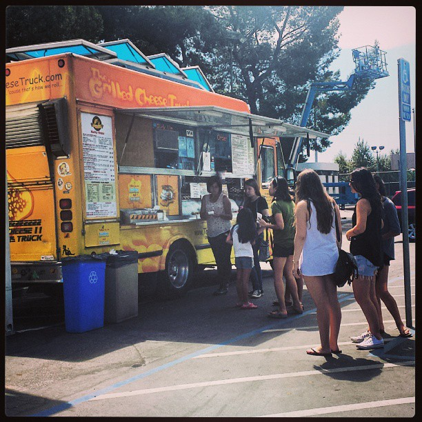 Yum! The Grilled Cheese Truck is here! @grlldcheesetruk