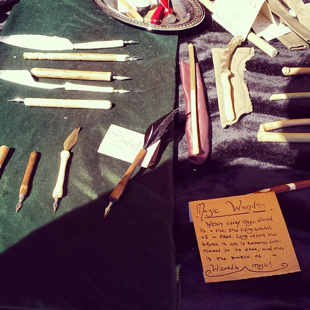 In case you need a hand carved magic wand or quill pen, we've got you covered.