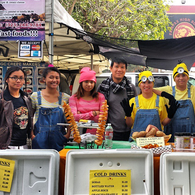 Congrats to the GC Crepe Makers for winning our annual vendor Halloween costume contest! They have won a freebie space in the market. (Sorry some of you got cut off in the last picture... You're in this one!) #melrosetradingpost #gccrepemakers #vendor #costume #contestwinner #despicableme #minions