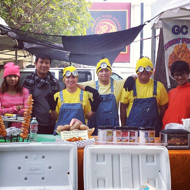 The GC Crepe Makers have such cute costumes!!