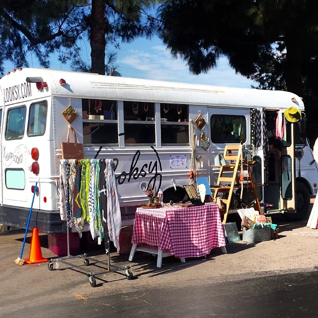 Have a looksy at the Looksy Bus by the Fairfax entrance!